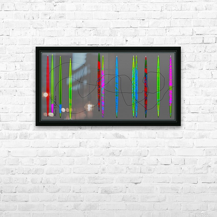 HorizonGreenGrey HD Sublimation Metal print with Decorating Float Frame (BOX)