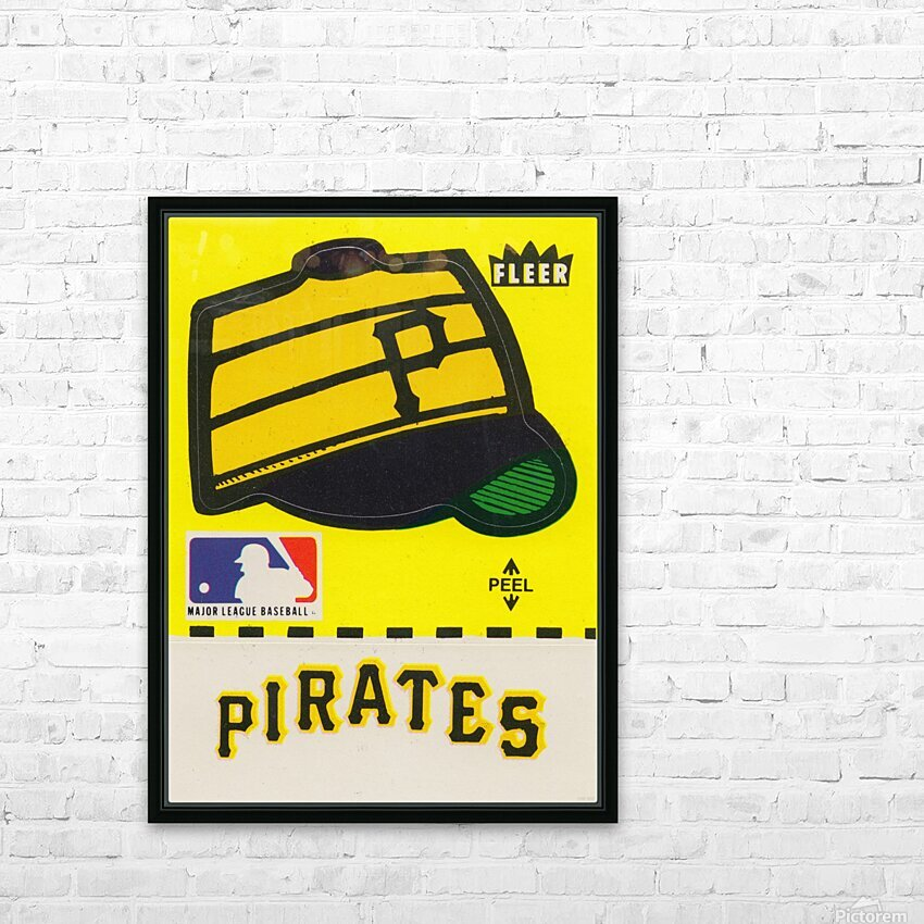 1981 Pittsburgh Pirate Fleer Decal Art HD Sublimation Metal print with Decorating Float Frame (BOX)
