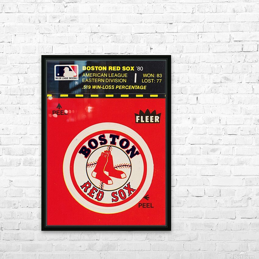 1981 Boston Red Sox Fleer Decal Art HD Sublimation Metal print with Decorating Float Frame (BOX)