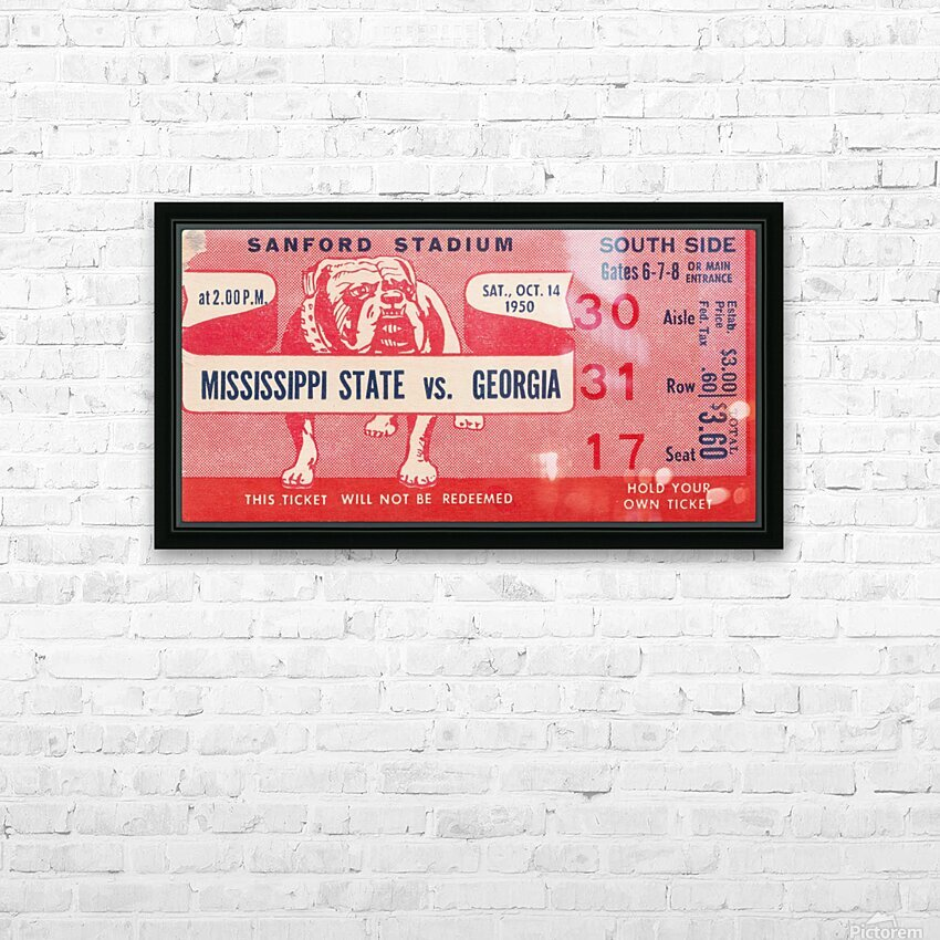 1950 Mississippi State vs. Georgia HD Sublimation Metal print with Decorating Float Frame (BOX)