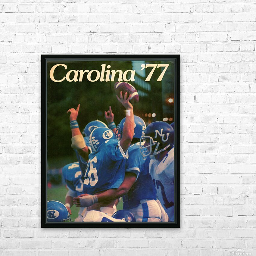 1977 Carolina Football HD Sublimation Metal print with Decorating Float Frame (BOX)