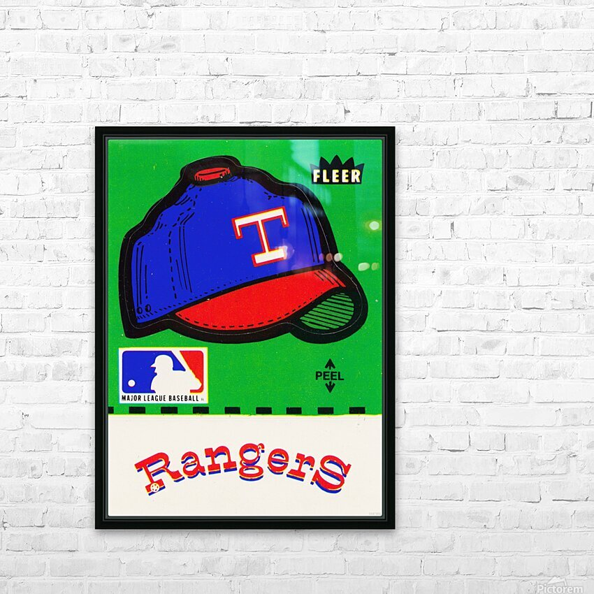 1981 Texas Rangers Decal Art HD Sublimation Metal print with Decorating Float Frame (BOX)