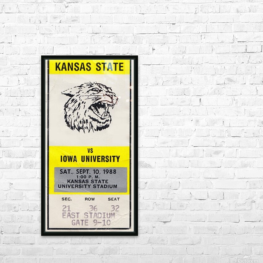 1988 Kansas State vs. Iowa HD Sublimation Metal print with Decorating Float Frame (BOX)