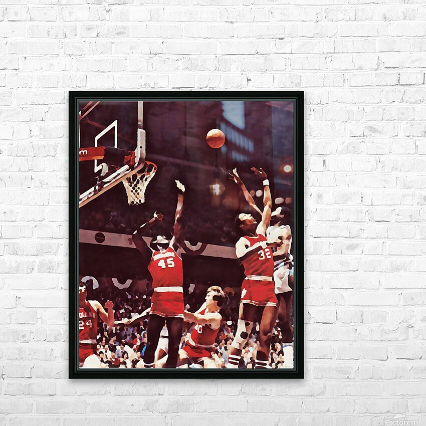 1981 Indiana Basketball Art HD Sublimation Metal print with Decorating Float Frame (BOX)