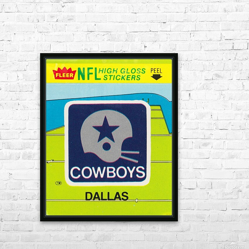 1981 Dallas Cowboys Fleer Decal Art HD Sublimation Metal print with Decorating Float Frame (BOX)