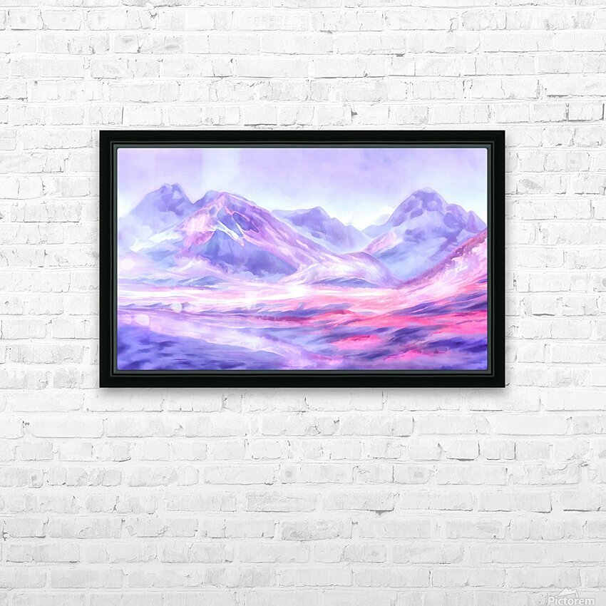 Mount Fairweather Canada HD Sublimation Metal print with Decorating Float Frame (BOX)