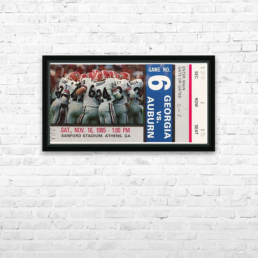1985 Georgia vs. Auburn HD Sublimation Metal print with Decorating Float Frame (BOX)