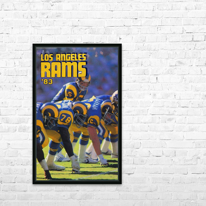 1983 Los Angeles Rams HD Sublimation Metal print with Decorating Float Frame (BOX)