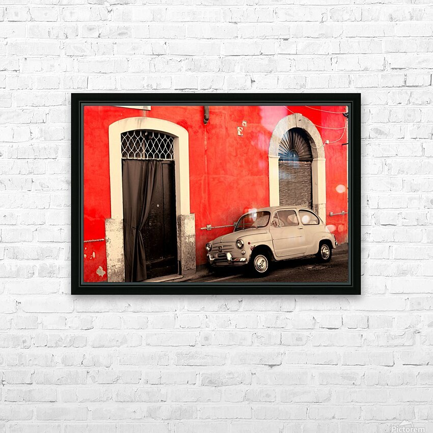 The Old car HD Sublimation Metal print with Decorating Float Frame (BOX)
