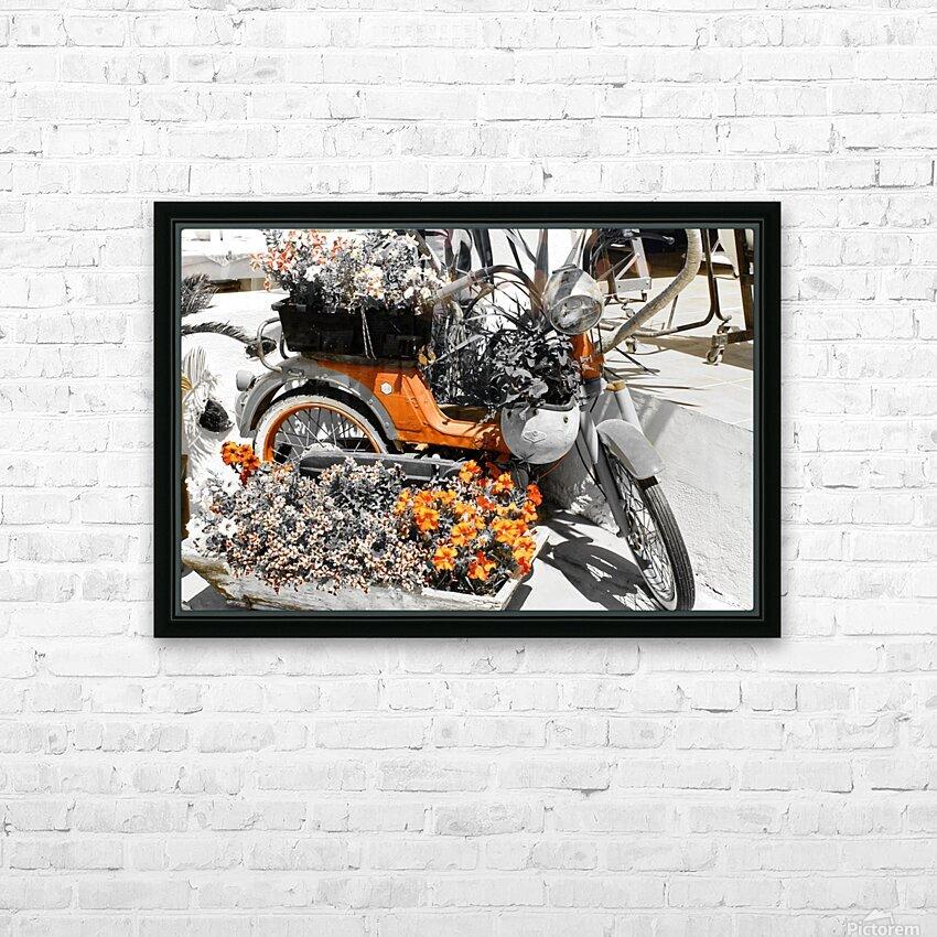 Old style scooter HD sublimation métal imprimé avec décoration flotteur cadre (boîte)