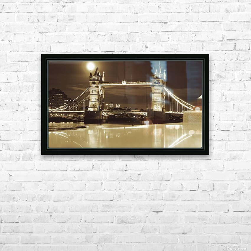 Vintage Tower Bridge - london  HD Sublimation Metal print with Decorating Float Frame (BOX)