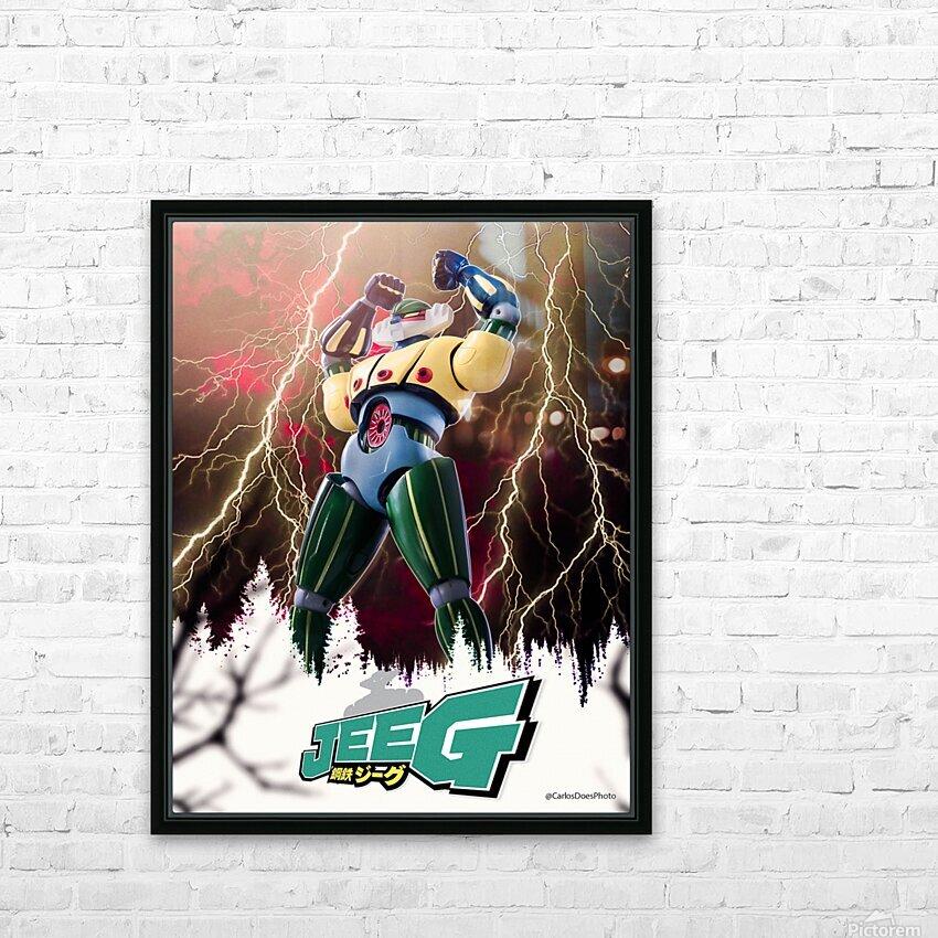 Kotetsu Jeeg - Steel Jeeg HD Sublimation Metal print with Decorating Float Frame (BOX)