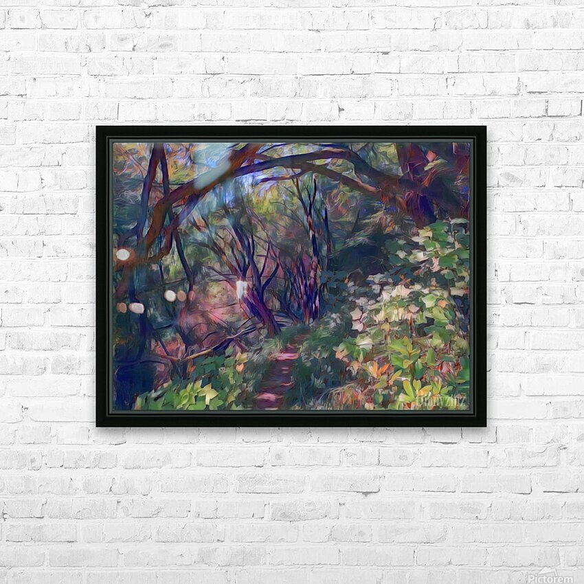 Arch of trees HD Sublimation Metal print with Decorating Float Frame (BOX)