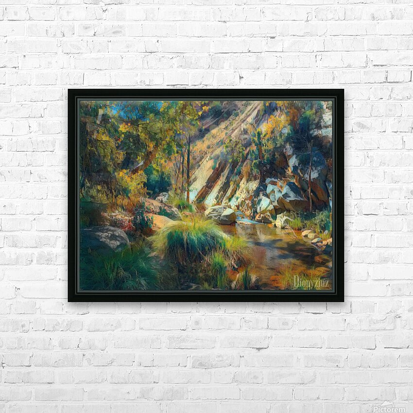 Ojai canyons HD Sublimation Metal print with Decorating Float Frame (BOX)