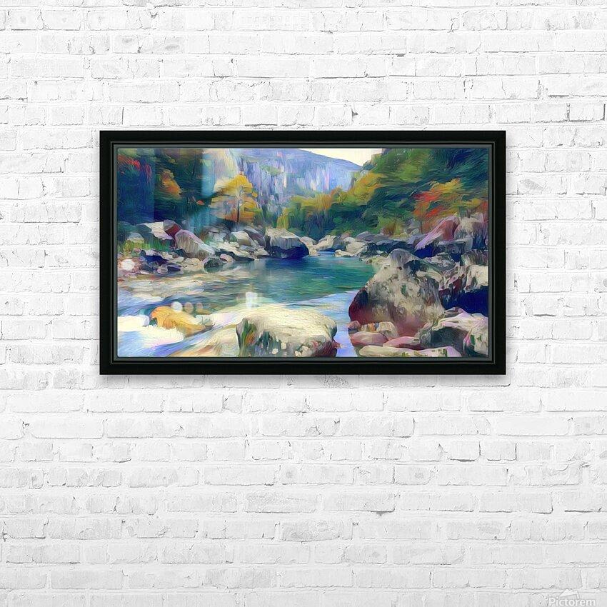 Boulder dash HD Sublimation Metal print with Decorating Float Frame (BOX)
