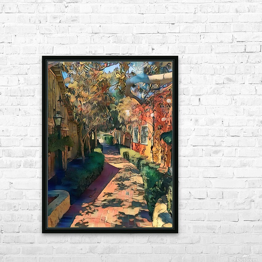 Hokusai alley HD Sublimation Metal print with Decorating Float Frame (BOX)