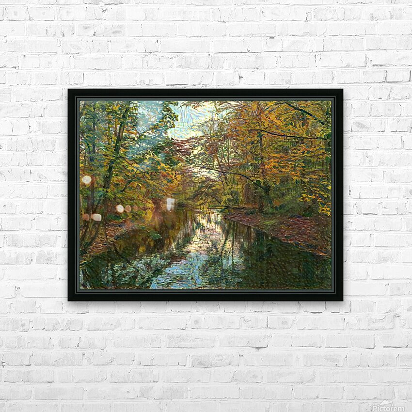 Autumn forrest HD Sublimation Metal print with Decorating Float Frame (BOX)