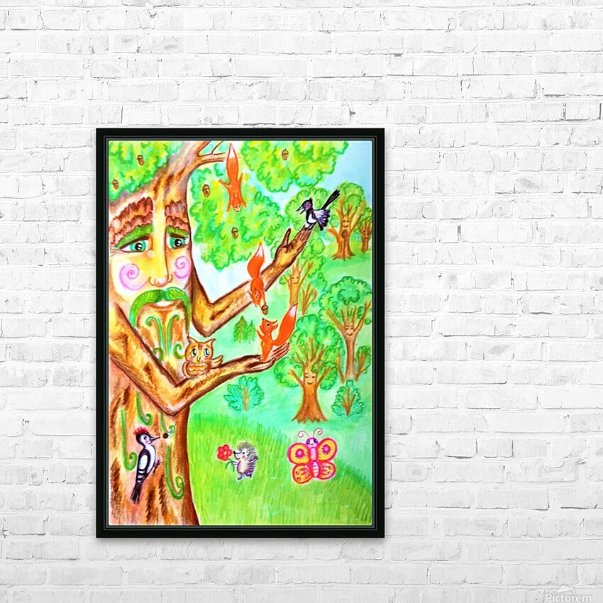 The tree of the prophetic wood and the friends of the wood HD Sublimation Metal print with Decorating Float Frame (BOX)