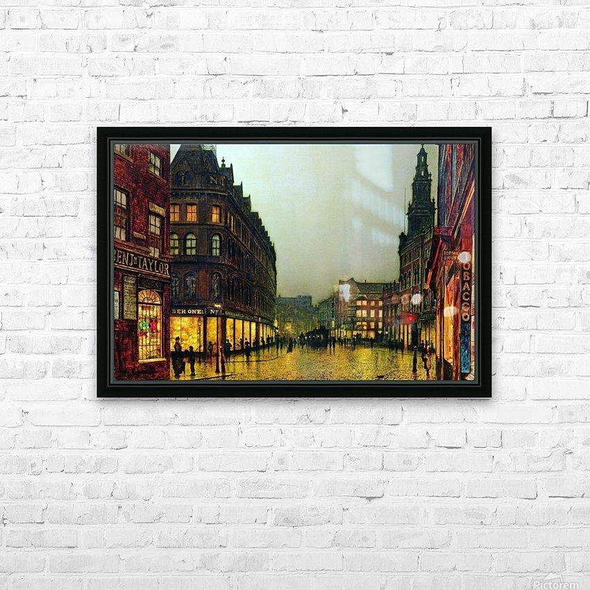 Boar Lane, Leeds HD Sublimation Metal print with Decorating Float Frame (BOX)