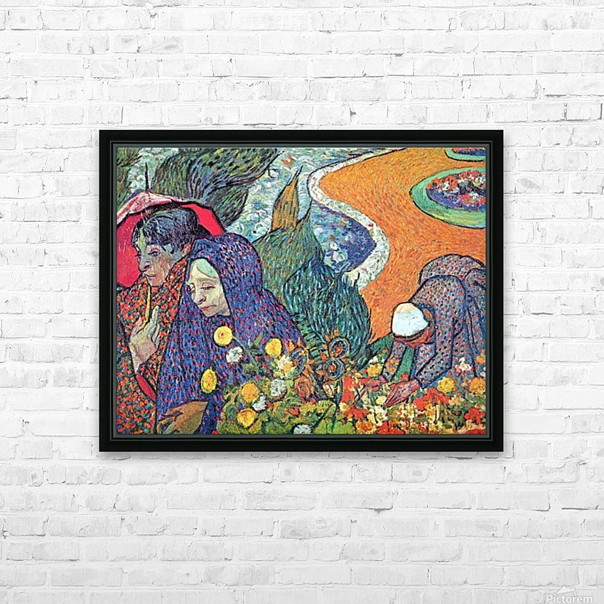 Promenade in Arles by Van Gogh HD Sublimation Metal print with Decorating Float Frame (BOX)
