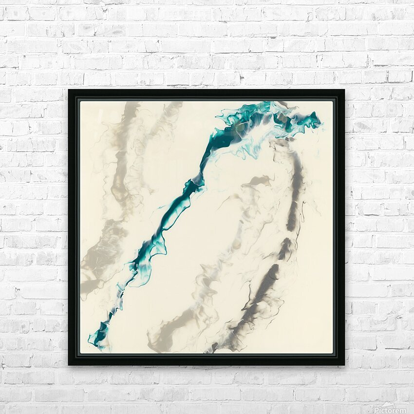 Teal Expressions 04 HD Sublimation Metal print with Decorating Float Frame (BOX)
