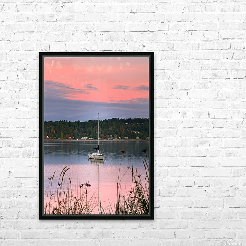 Rosy Retreat  HD Sublimation Metal print with Decorating Float Frame (BOX)