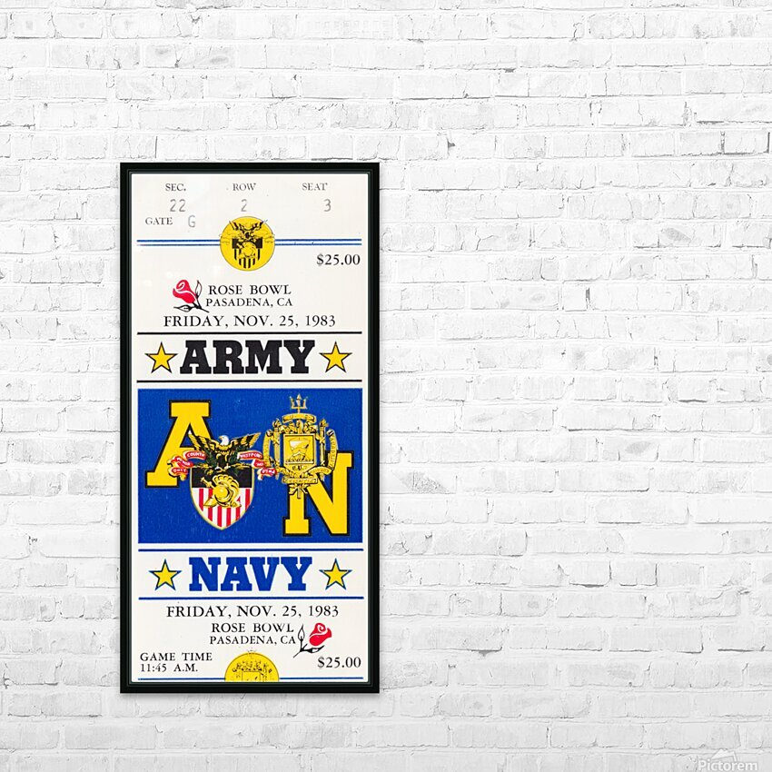 1983 Army vs. Navy HD Sublimation Metal print with Decorating Float Frame (BOX)
