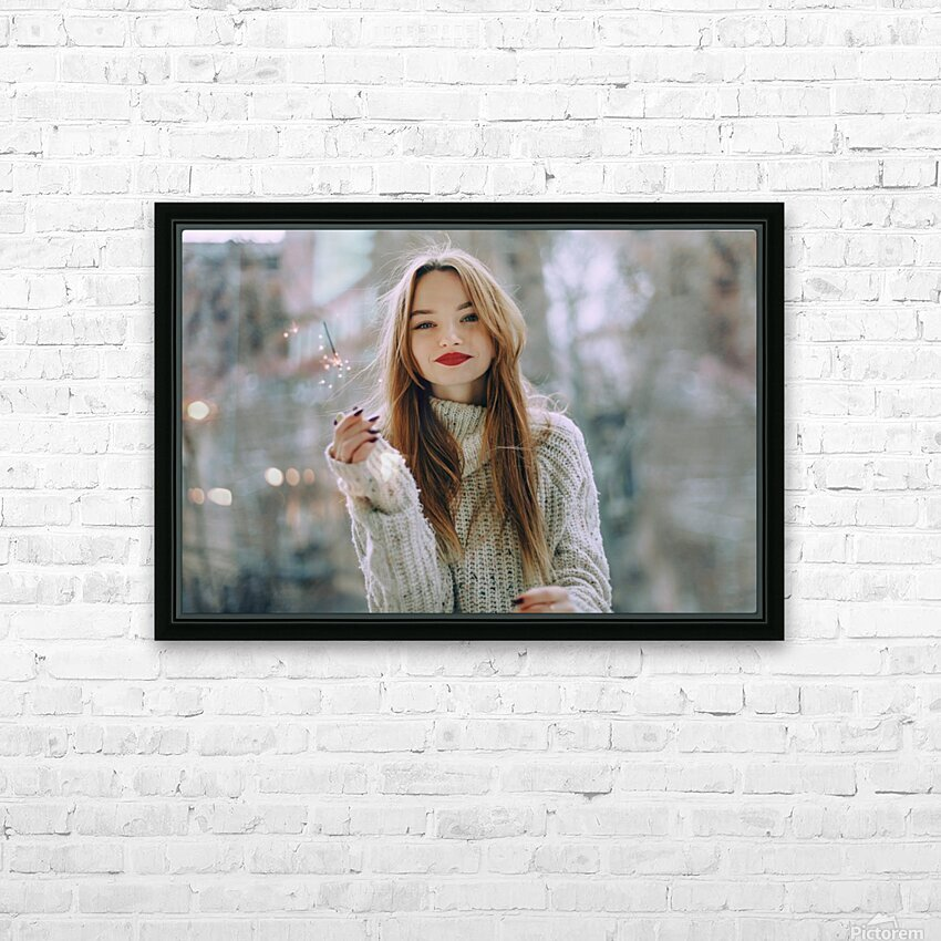 Asia date HD Sublimation Metal print with Decorating Float Frame (BOX)