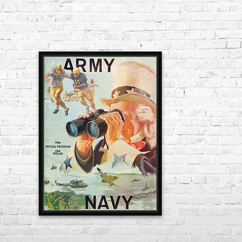 1966 Army vs. Navy Football Program HD Sublimation Metal print with Decorating Float Frame (BOX)