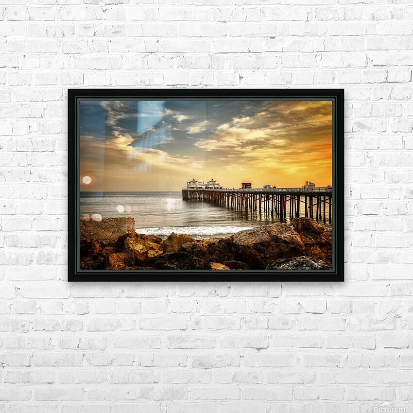 Malibu Summer  HD Sublimation Metal print with Decorating Float Frame (BOX)