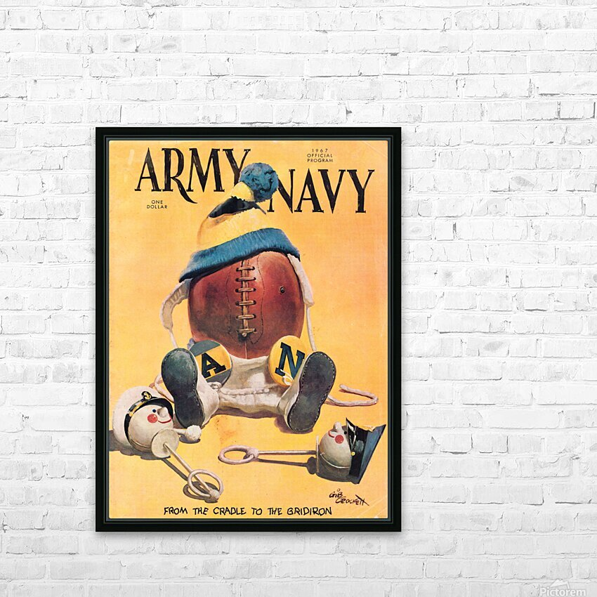 1967 army navy football program HD Sublimation Metal print with Decorating Float Frame (BOX)