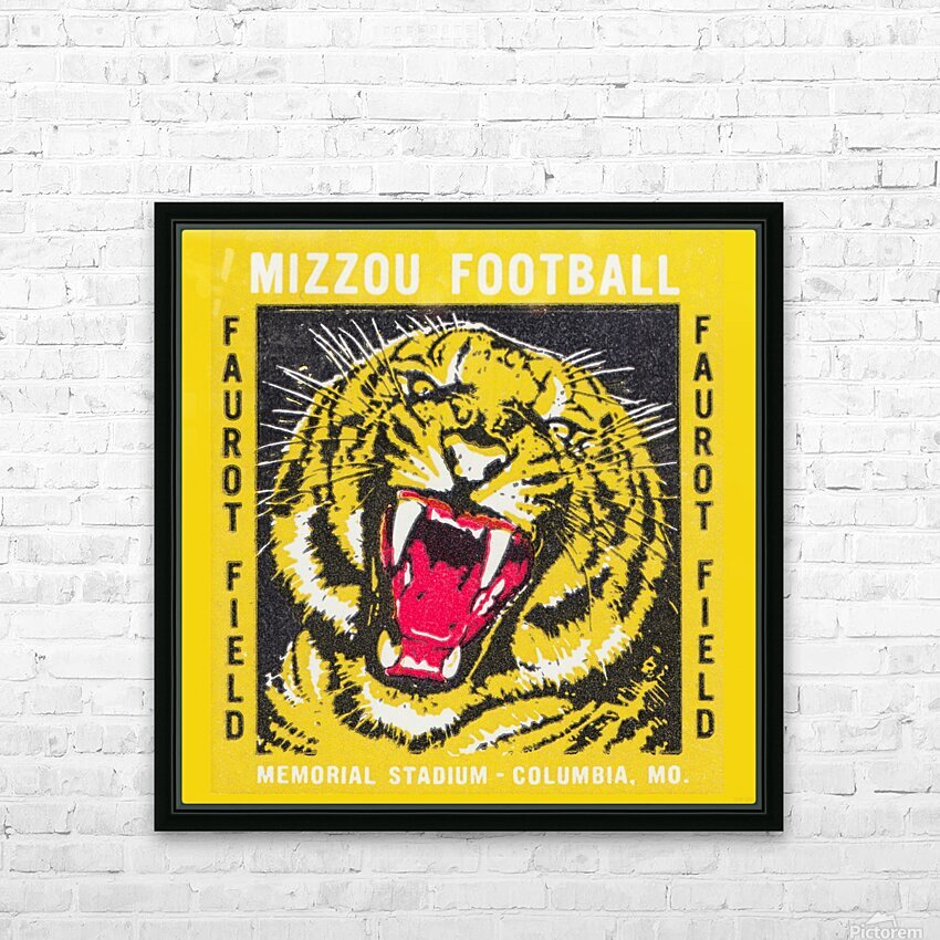 1977 Mizzou Football HD Sublimation Metal print with Decorating Float Frame (BOX)