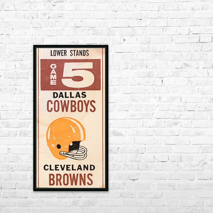 1969 Cleveland Browns vs. Dallas Cowboys HD Sublimation Metal print with Decorating Float Frame (BOX)