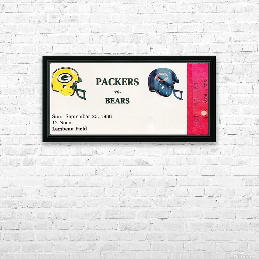 1988 Green Bay Packers vs. Chicago HD Sublimation Metal print with Decorating Float Frame (BOX)