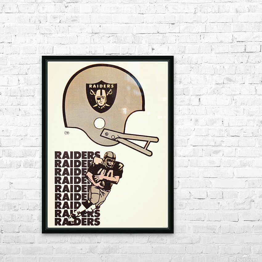 1976 Oakland Raiders Art HD Sublimation Metal print with Decorating Float Frame (BOX)