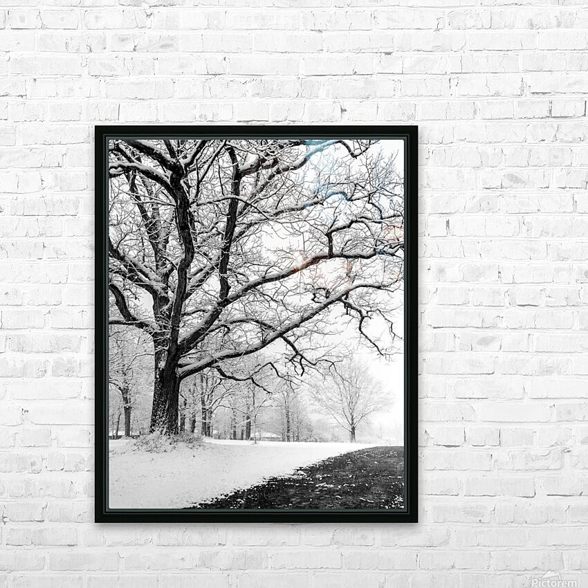 First Snowfall HD Sublimation Metal print with Decorating Float Frame (BOX)