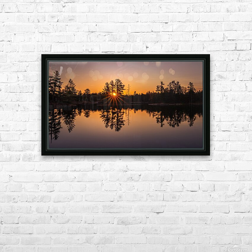Peek Through HD Sublimation Metal print with Decorating Float Frame (BOX)