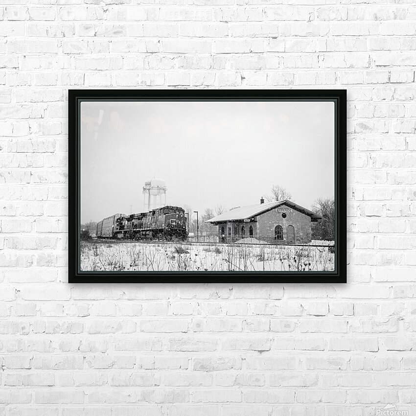 Napanee Station HD Sublimation Metal print with Decorating Float Frame (BOX)