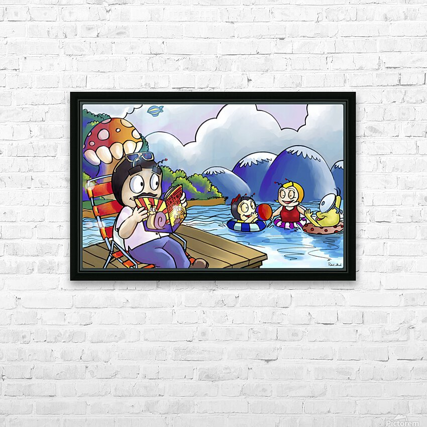 A Dream of Summer - Swim HD Sublimation Metal print with Decorating Float Frame (BOX)