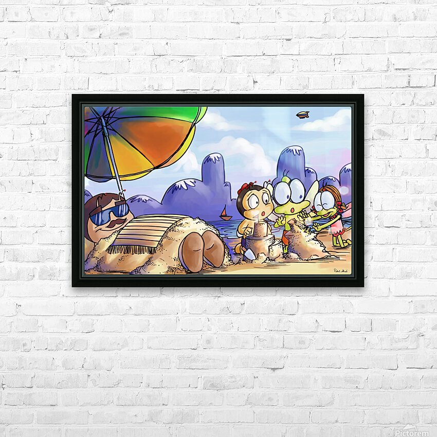A Dream of Summer - Day at Beach HD Sublimation Metal print with Decorating Float Frame (BOX)