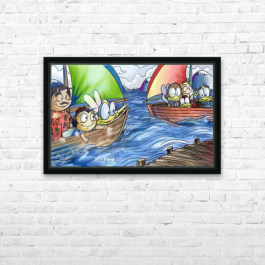A Dream of Summer - Boats HD Sublimation Metal print with Decorating Float Frame (BOX)