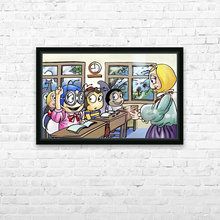 School Days - Classroom HD Sublimation Metal print with Decorating Float Frame (BOX)