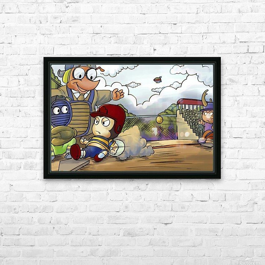 Home base slide HD Sublimation Metal print with Decorating Float Frame (BOX)
