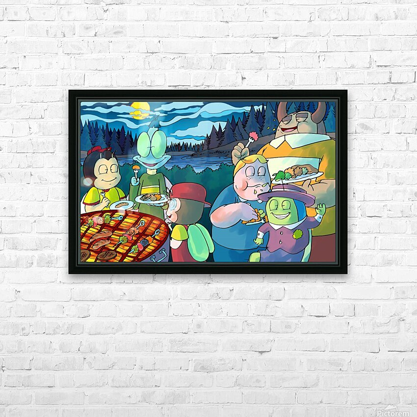 Summer Camp - Cookout - Bugville Critters HD Sublimation Metal print with Decorating Float Frame (BOX)