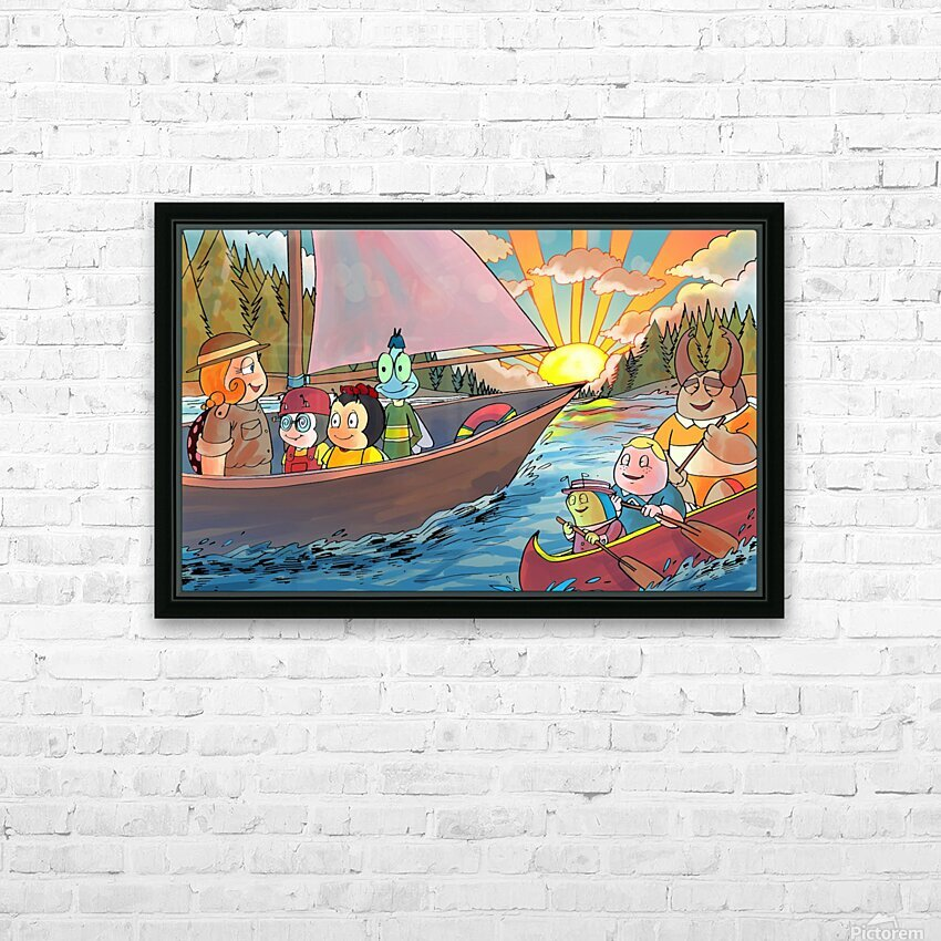 Summer Camp - Sailing - Bugville Critters HD Sublimation Metal print with Decorating Float Frame (BOX)