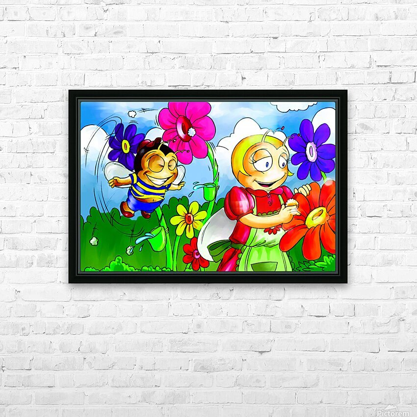 Mother Bee at Work - Bugville Critters HD Sublimation Metal print with Decorating Float Frame (BOX)