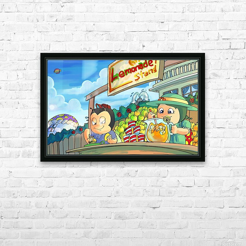 Lemonade Stand - Bugville Critters HD Sublimation Metal print with Decorating Float Frame (BOX)