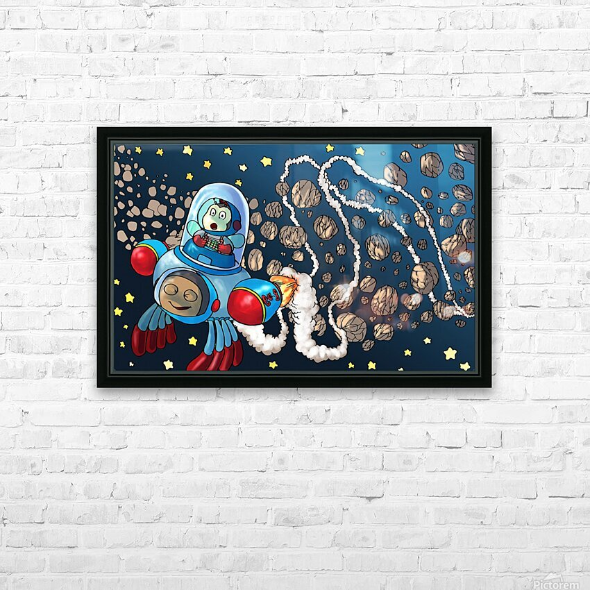 Buzzing Around the Solar System HD Sublimation Metal print with Decorating Float Frame (BOX)