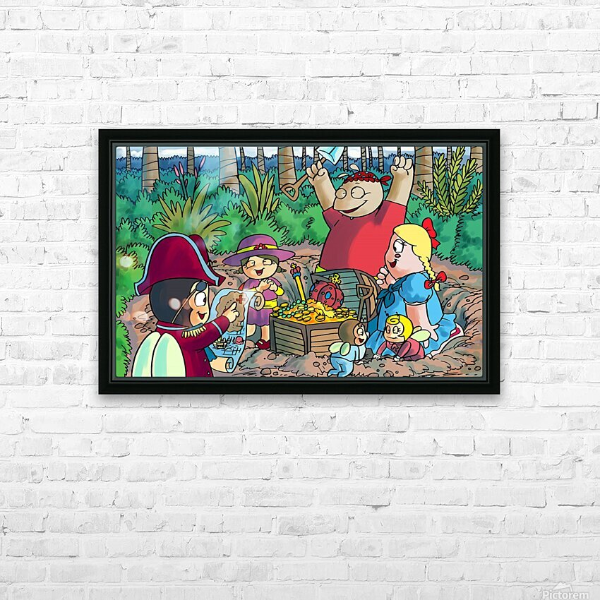 Hidden Treasure - Pirates - Bugville Critters HD Sublimation Metal print with Decorating Float Frame (BOX)
