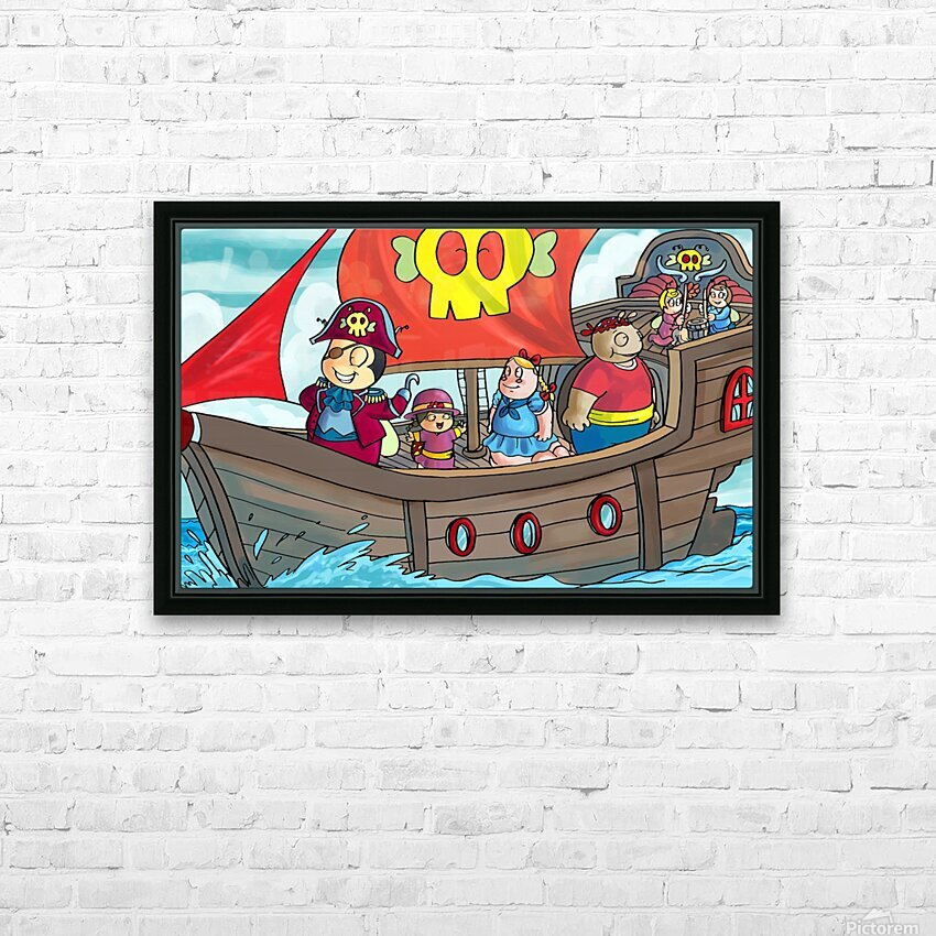 Pirate Ship HD Sublimation Metal print with Decorating Float Frame (BOX)